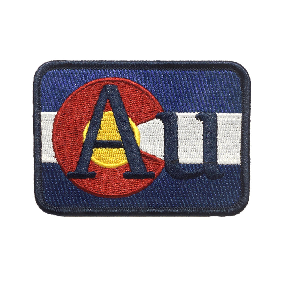 Golden AU Gold Colorado Flag Patch