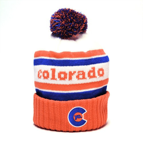 YoColorado Retro Crush Pom Beanie