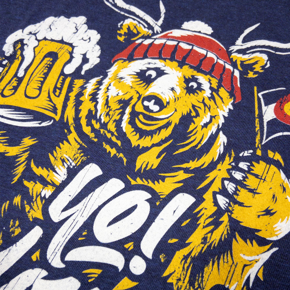 Colorado Flag Beerfest Bear Beer T-Shirt