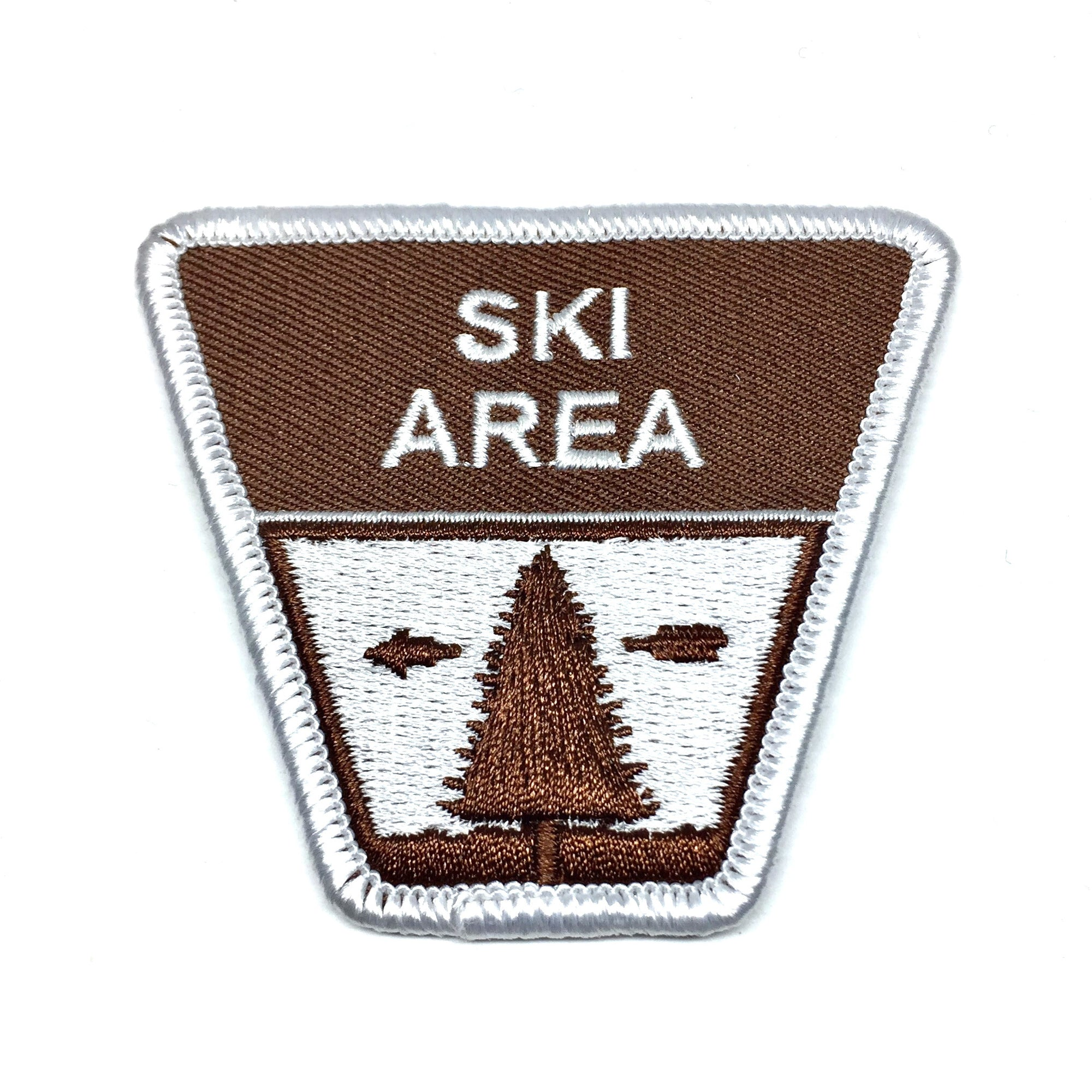 Ski Area Sign Patch