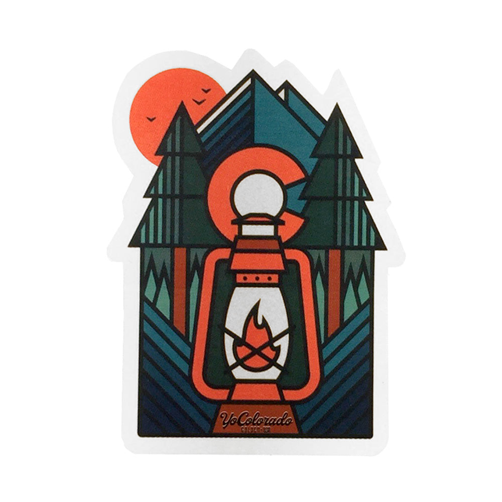 Colorado Forest Lantern Sticker
