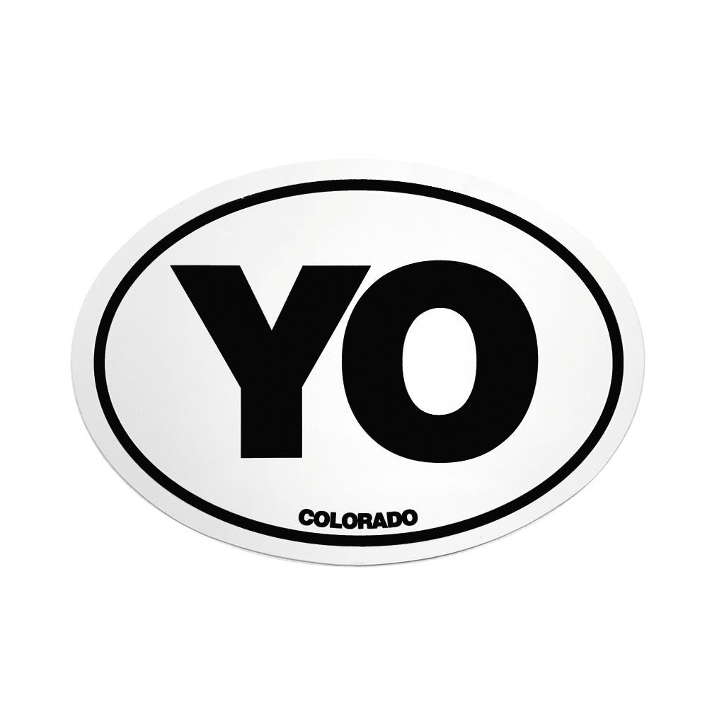 Euro Yo Oval Sticker