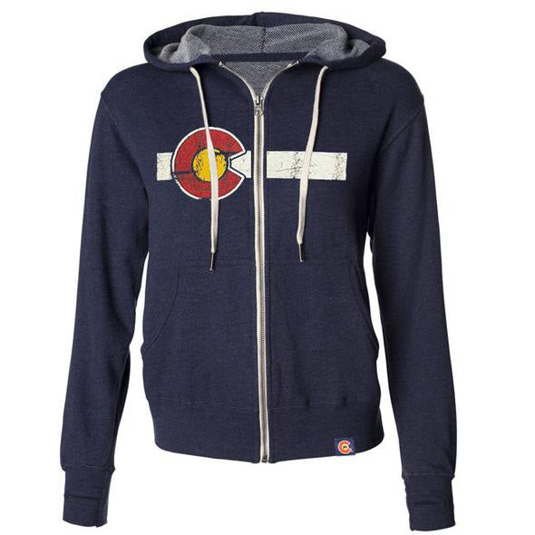 Classic Colorado Flag French Terry Zip Hoodie 1