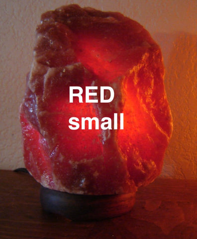 RED Natural small Salt Lamp (6-8 lbs)