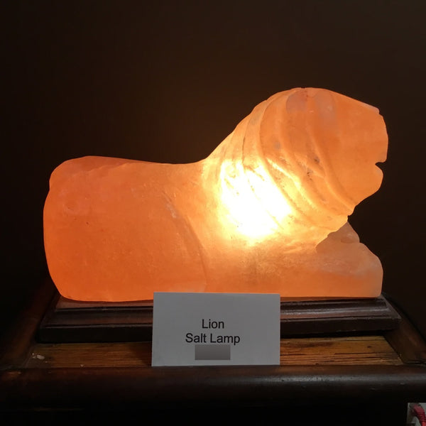 Lion - Crafted Himalayan Salt Lamp