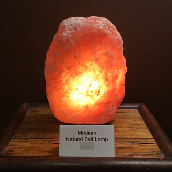 Natural Medium Himalayan Salt Lamp (9-11 lbs)