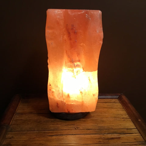 Bamboo Square - Crafted Salt Lamp