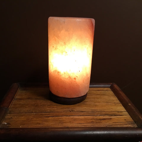 Cylinder - Crafted Himalayan Salt Lamp