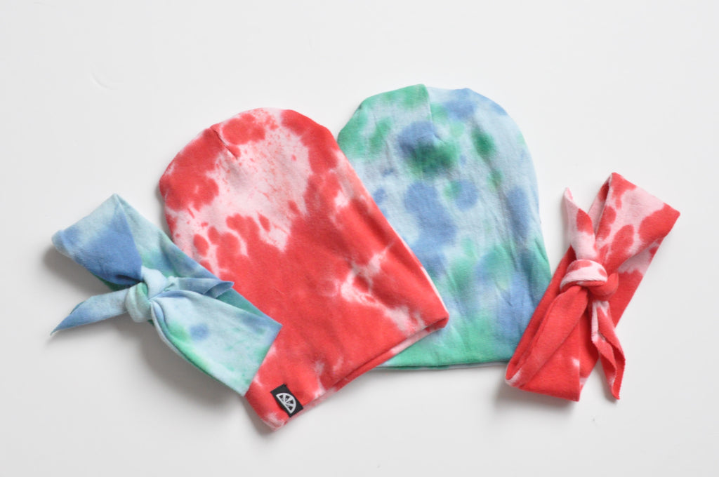 Blue Tye Dye Headband