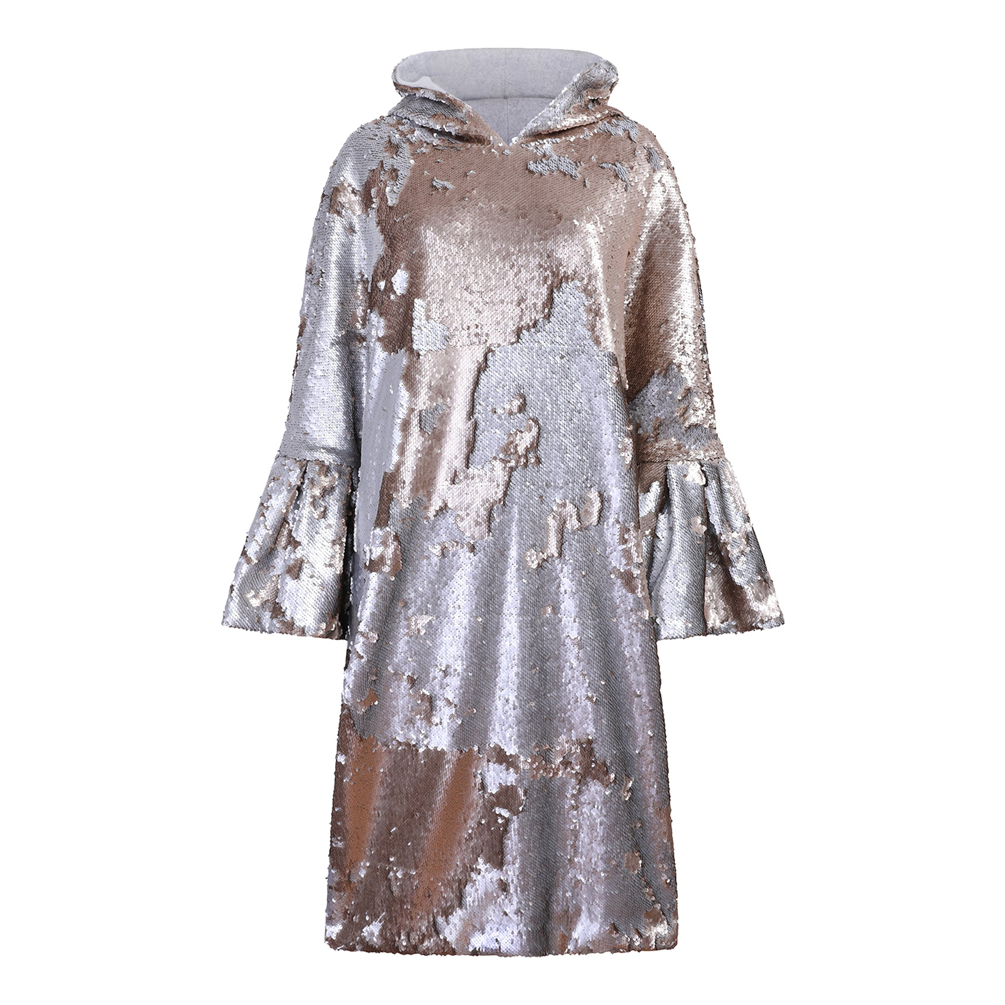 Sarah Reversible Sequin Hoodie Dress