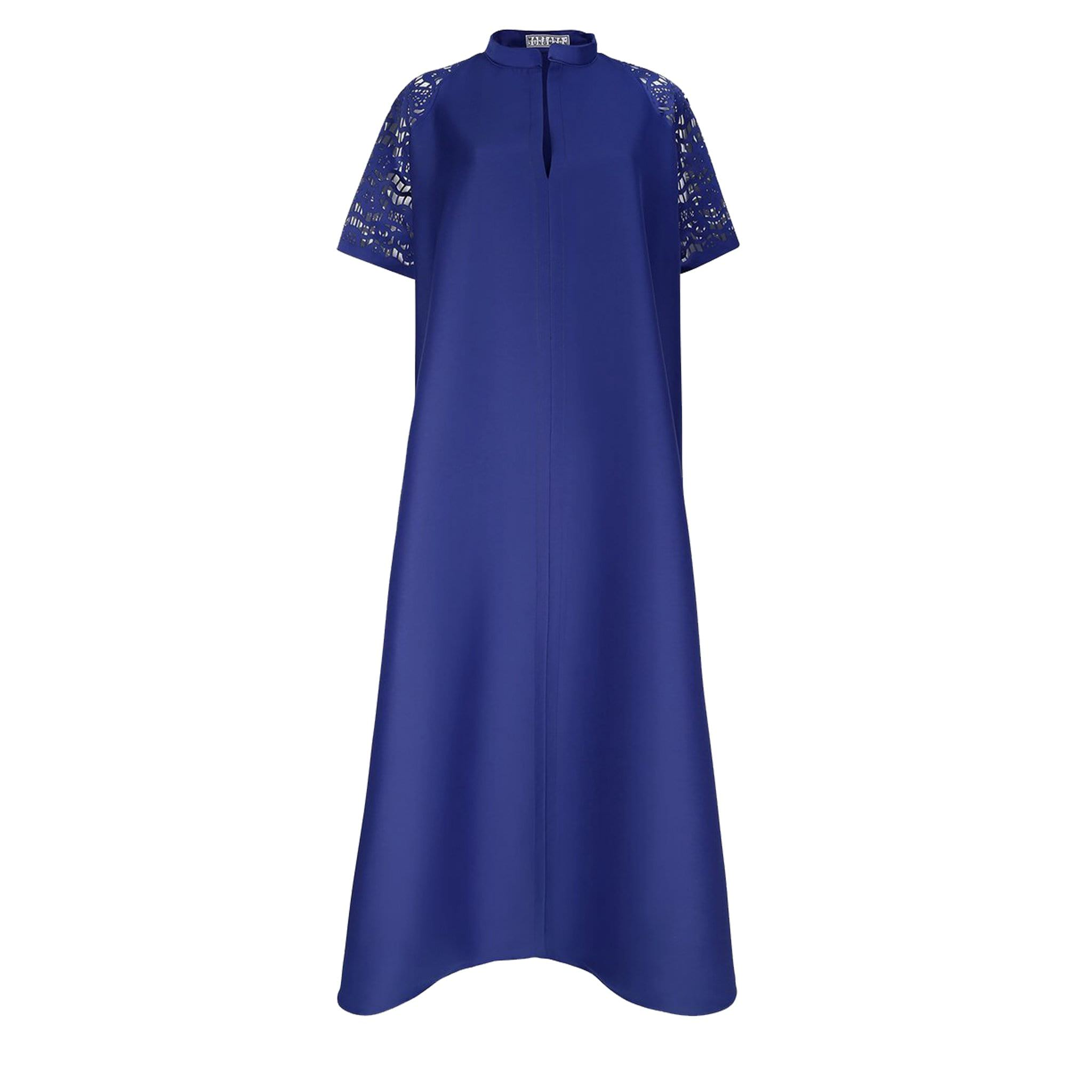 Maxi dress with Laser-cut raglan sleeves
