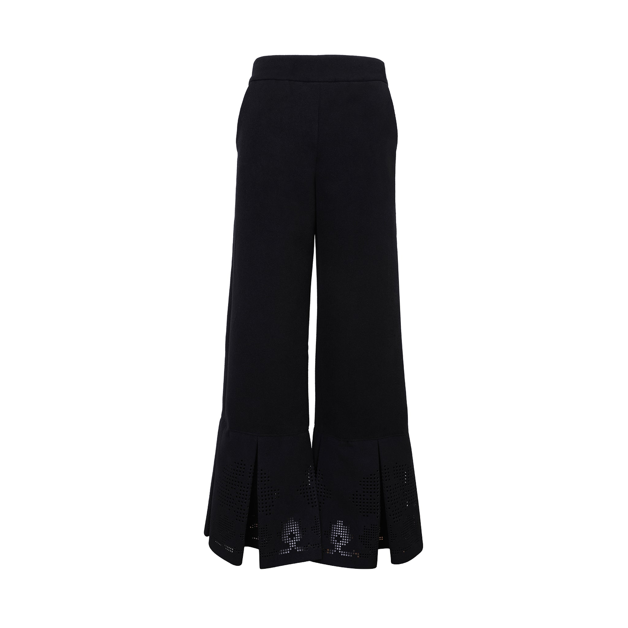 Jessica Wool Blend Wide Leg Trousers