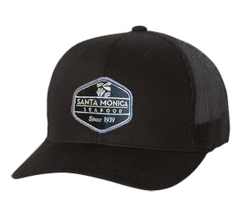 Santa Monica Seafood Trucker Hat - Black