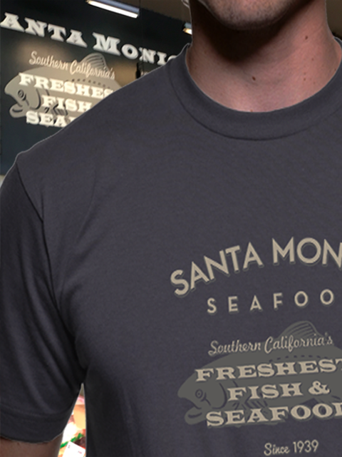 Santa Monica Seafood T-Shirt - Gray