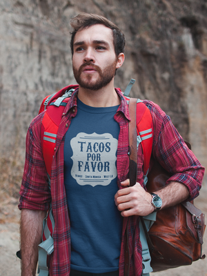 Tacos Por Favor T-Shirt - Blue
