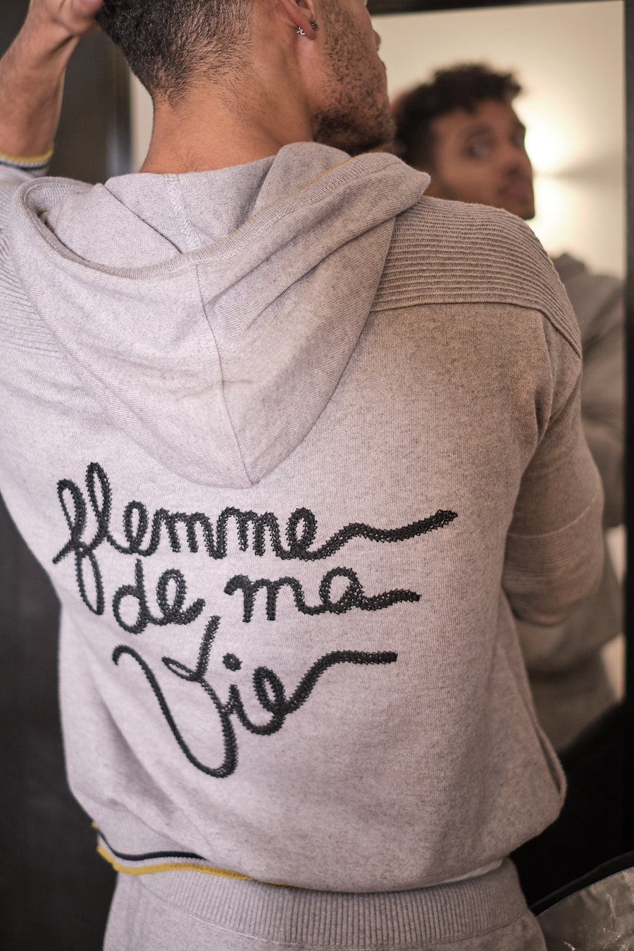 Charlie le hoodie pour homme made in France en coton cachemire