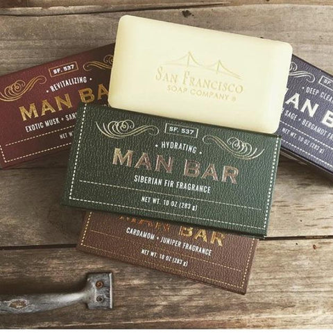 The MAN BAR - Deep Cleansing, Revitalizing and Hydrating Soaps