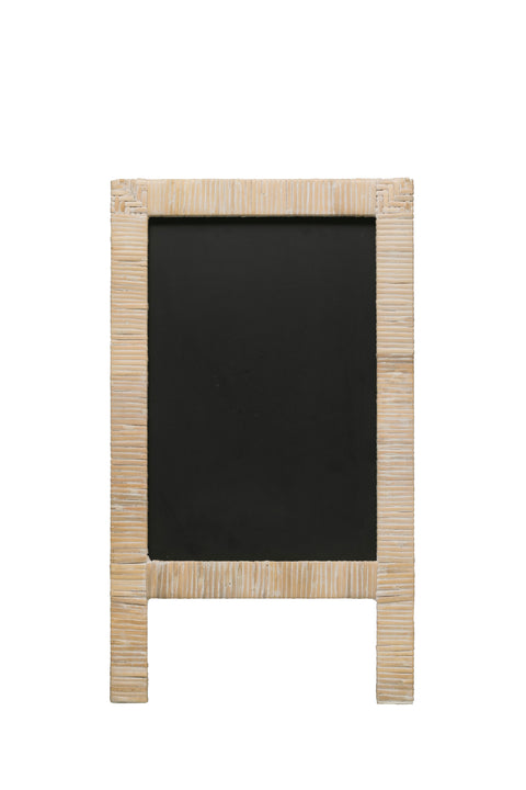 Wrapped Rattan and Wood Chalkboard Easel