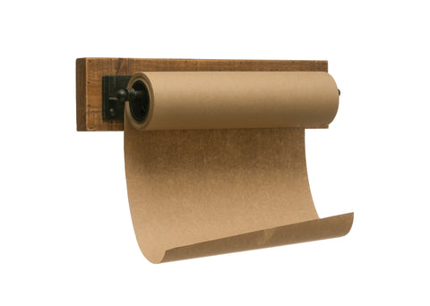 "12""W Paper Roll on Wood and Metal Wall Bracket"