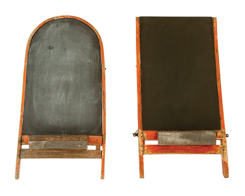 Heavily Distressed Found Chair Back Wood Chalkboard Sign (Each one will vary)