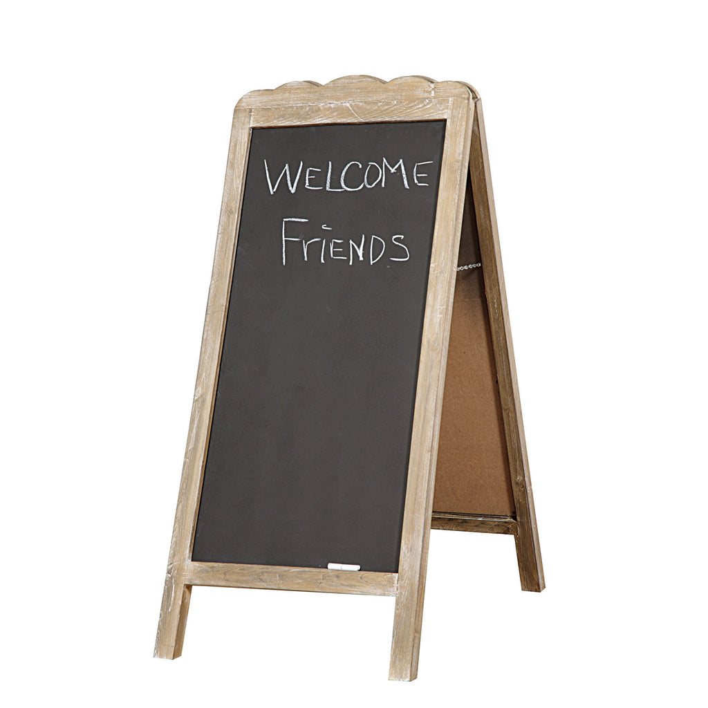Freestanding Wood 2 Sided Blackboard