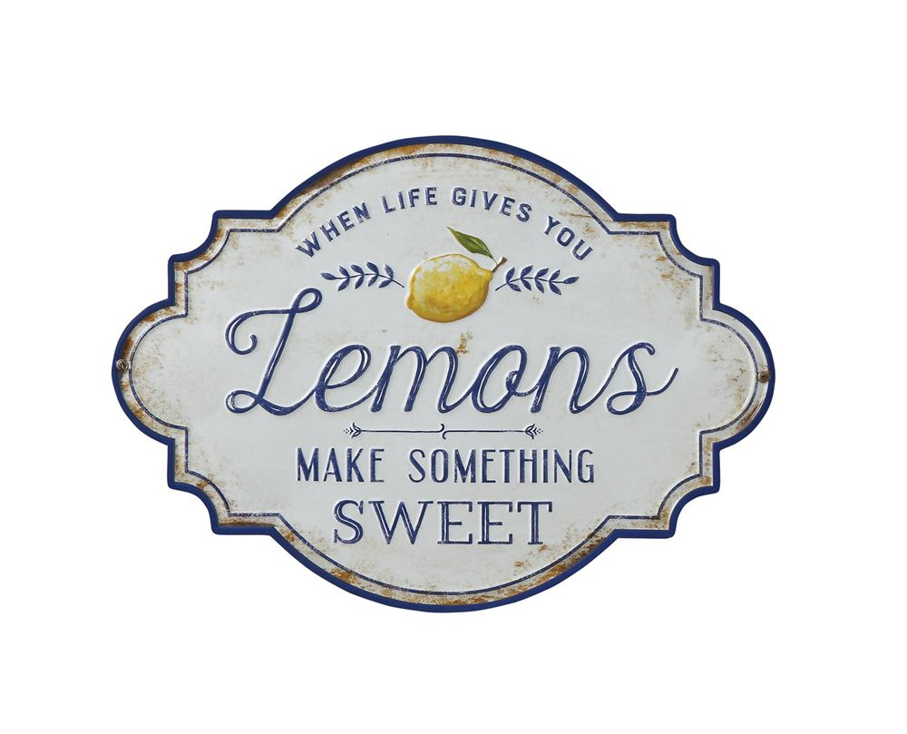 """Life Gives you Lemons"" Metal Wall Decor"