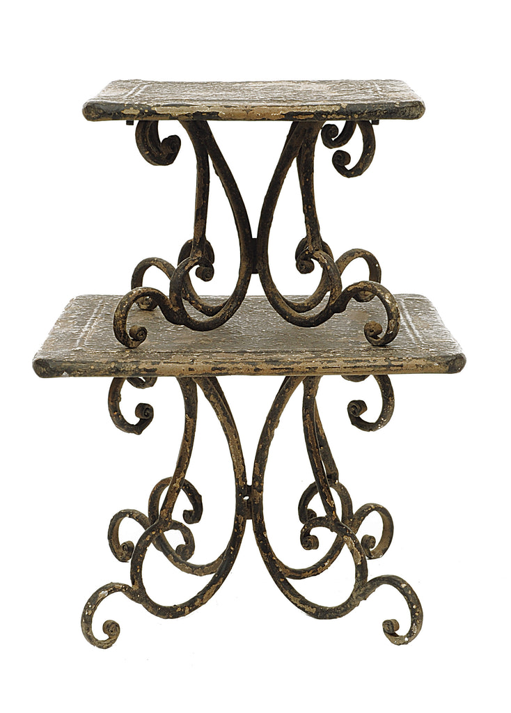 Turn of the Century Decorative Metal Pedestals (Set of 2 Sizes)