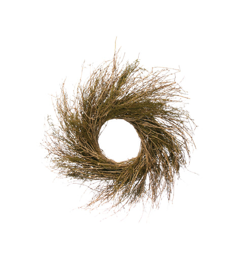 "23.5"" Round Dried Natural Twig Wreath"