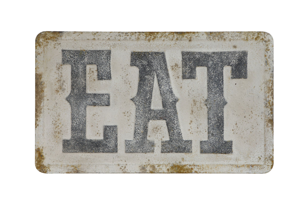 """EAT"" Metal Wall Décor"