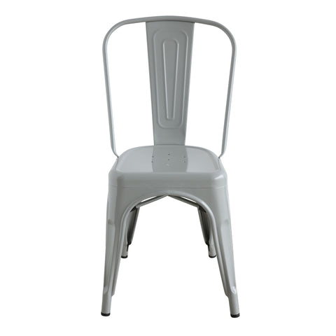 Grey Metal Dining Chair