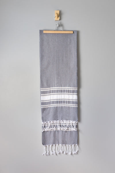Ziya Stripe Hammam Towel | Grey Gold