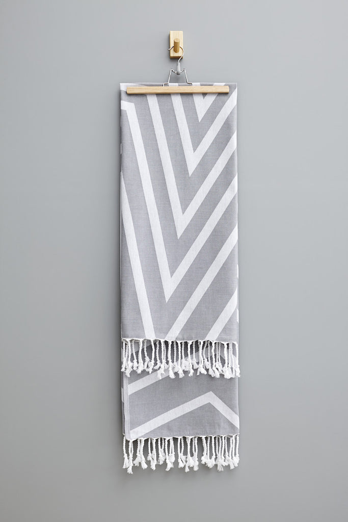 Smoke Grey Alya Hammam Havlu Towel