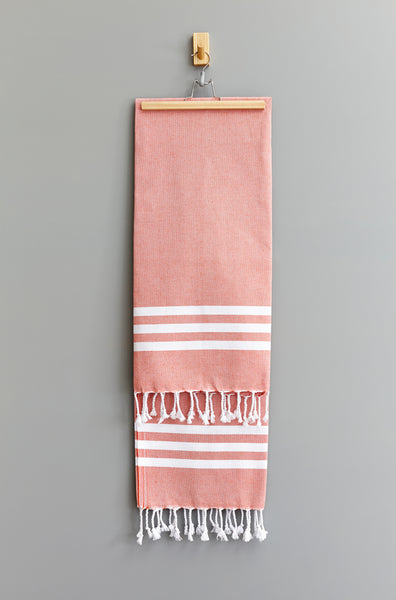 Esra Stripe Hammam Towel | Orange