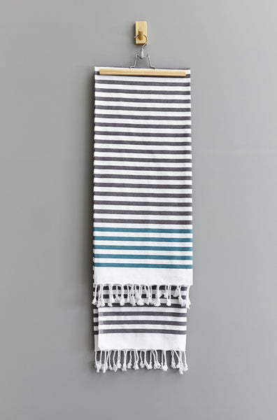 Washed Black/Jade Deniz Hammam Havlu Towel