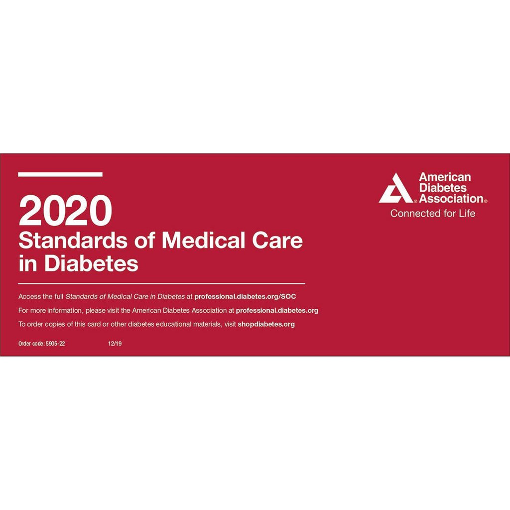 2020 Standards of Medical Care in Diabetes Pocket Chart FREE Shipping