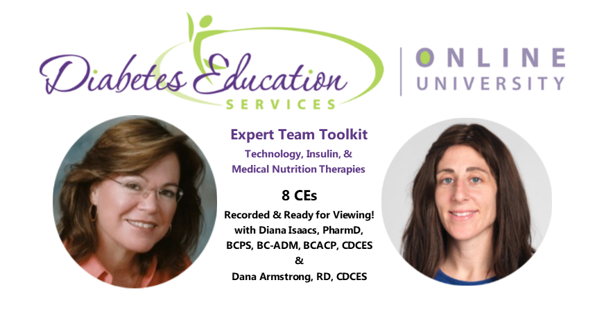 Expert Team Toolkit | Technology, Insulin, & Medical Nutrition Therapies | 8.0 CEs