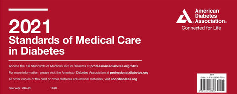 ADA 2021 Standards of Medical Care in Diabetes Pocket Chart