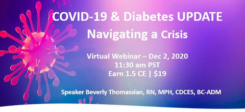 COVID-19 and Diabetes Virtual Update  | 1.5 CE