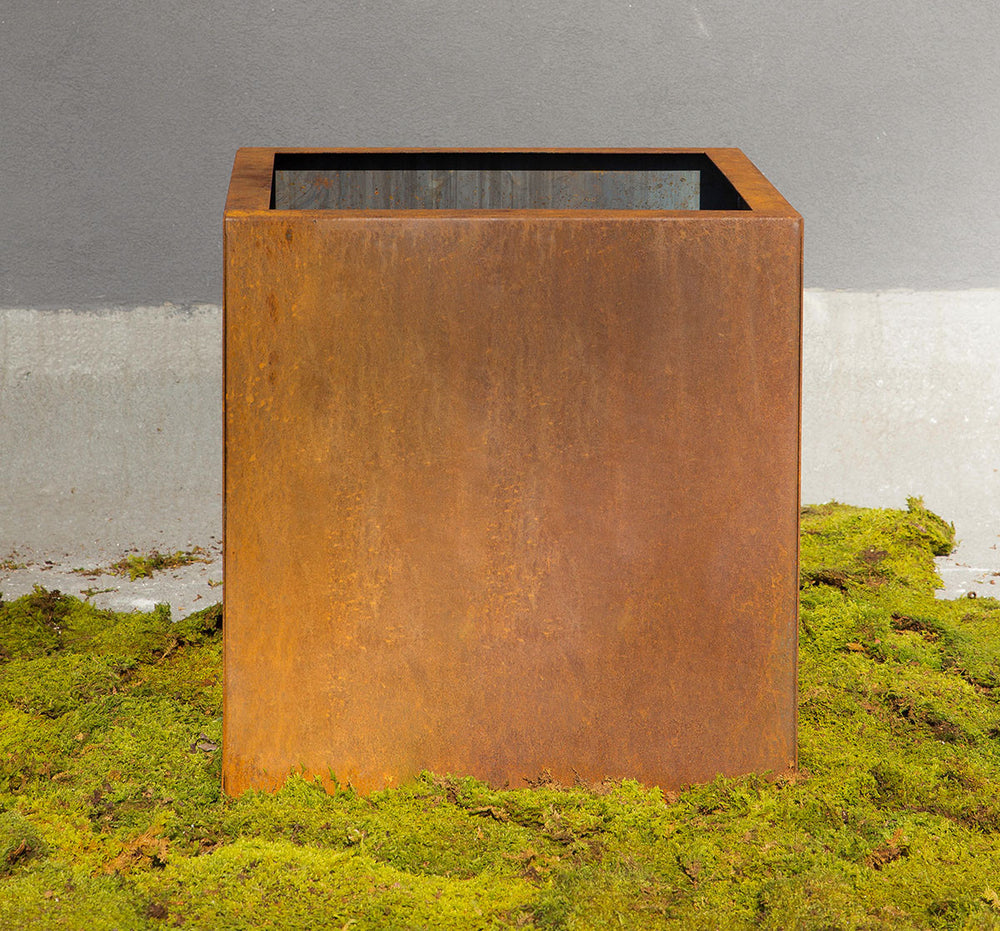 Load image into Gallery viewer, Planterscape Park Row Square CorTen Steel Planter