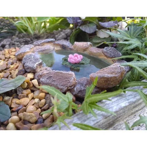 Fairy Garden Lily Pad Pond