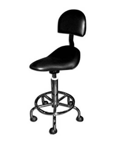 Saddle Stool Black with Back Support
