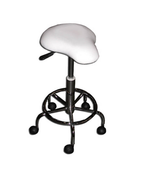 Hydraulic Stool Saddle Black or White