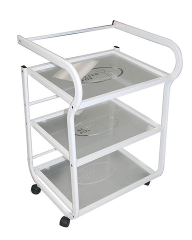 Classic Trolley With Frosted Shelves