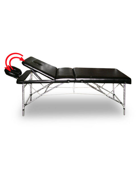 Adjustable Massage Bed with Recliner Aluminum