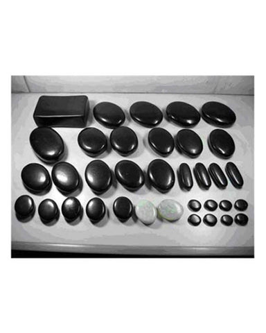 35pcs Basalt Massage Stones