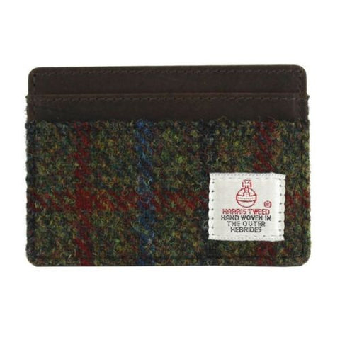Green Tweed Card Holder