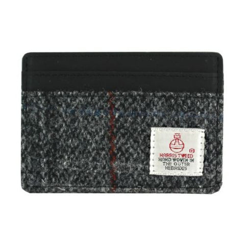 Grey Tweed Card Holder