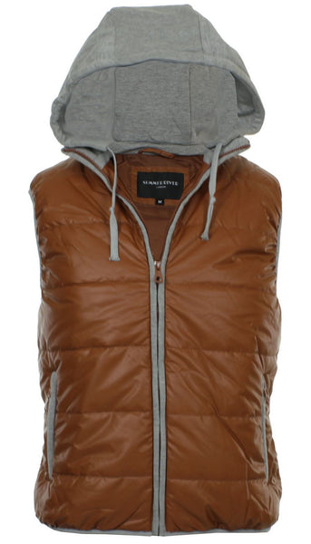 Brown Padded Gilet