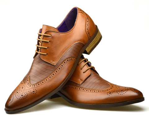 Brown Patterned Shoes