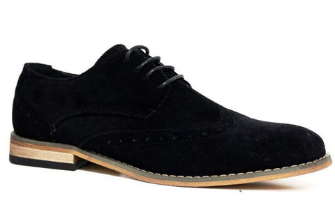 Waverly Black Suede Brogues